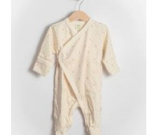 Sleepsuit - ecru color with brown print