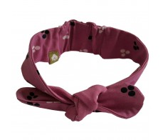 head band (lilac with dots)