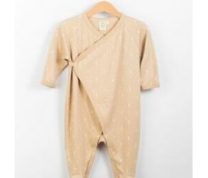Sleepsuit - brown color with ecru print